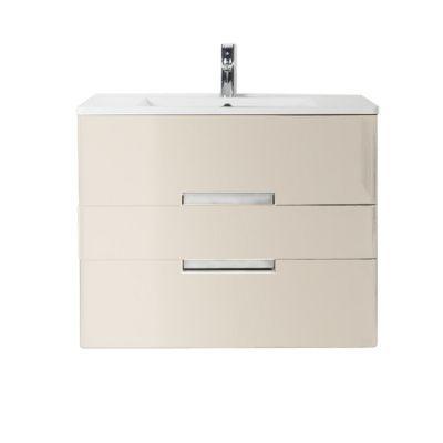 Meuble de salle de bains grège Decotec Belt 80 cm