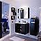Meuble de salle de bains noir DECOTEC Belt 80 cm