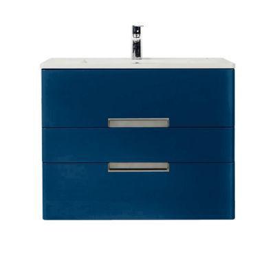 Meuble de salle de bains bleu comète DECOTEC Belt 100 cm