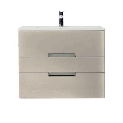 Meuble de salle de bains grège DECOTEC Belt 100 cm