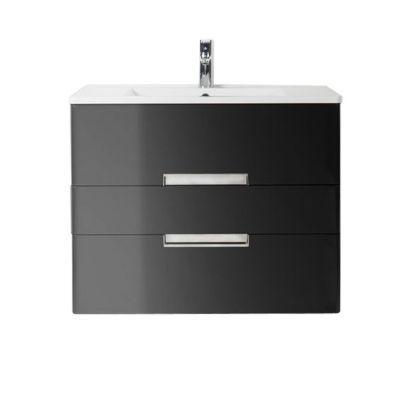 Meuble de salle de bains noir Decotec Belt 100 cm