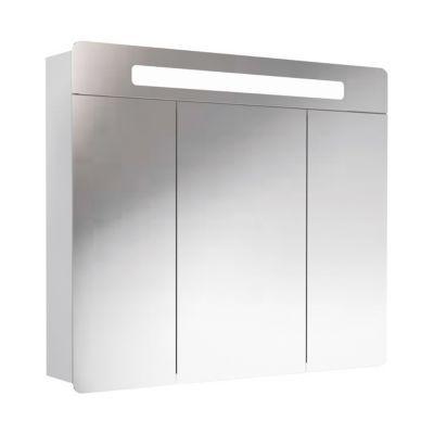Armoire lumineuse blanche DECOTEC Belt 80 cm
