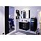 Demi colonne de salle de bains noir droit DECOTEC Belt 35 cm