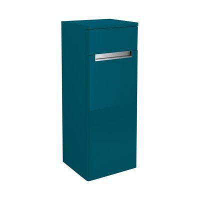 Demi colonne de salle de bains bleu comète gauche Decotec Belt 35 cm