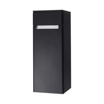 Demi colonne de salle de bains noir gauche Decotec Belt 35 cm