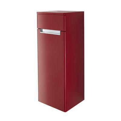 Demi colonne de salle de bains rouge impérial gauche DECOTEC Belt 35 cm