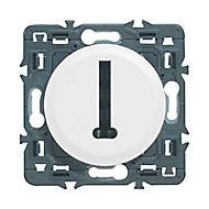 Mécanisme de prise téléphone 8 contacts en T Legrand Céliane blanc