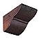 Console polyuréthane DECOSA Tirol chêne foncé pour poutre 9 x 6 cm