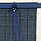 Store enrouleur bois bleu indigo 80 x 180 cm