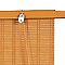Store enrouleur tamisant bois tissé BALLAUF chamois 120 x 220 cm