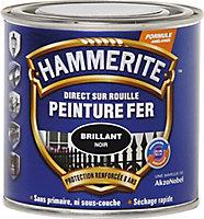 Peinture fer direct sur rouille laqué noir Hammerite 2,5L