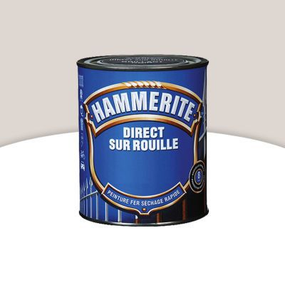 peinture fer direct sur rouille hammerite blanc cass brillant laqu 0 25l castorama. Black Bedroom Furniture Sets. Home Design Ideas