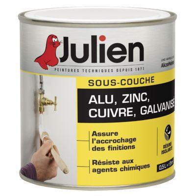 Sous-Couche Alu/Zinc/Galva Julien J1 0,5L | Castorama