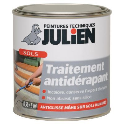 Traitement anti d rapant sols julien glispass 0 5l castorama for Vernis pour metal exterieur