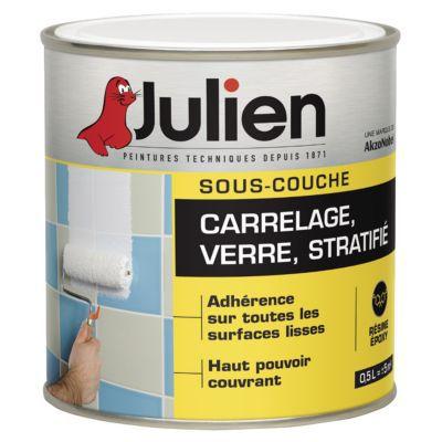Simple Souscouche Verre Stratifi Et Carrelage Mural Julien J L Castorama  With Primaire D Accrochage Pour Carrelage