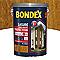 Lasure bois extérieur BONDEX garantie 8 ans châtaignier satin 5L