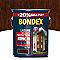 Lasure bois extérieur BONDEX garantie 8 ans chêne moyen satin 5L + 20% gratuit