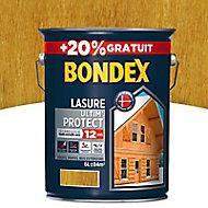 Lasure bois Bondex Ultim' protect Chêne clair 12 ans 5L + 20%