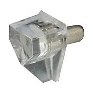 24 taquets à enfoncer tige acier embout plastique transparent ø4 mm