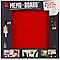 Tableau mémo board rouge 50 x 50 cm