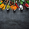 Tableau mémo board décor cuisine 30 x 30 cm