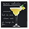 Impression sur verre Pina Colada 30 x 30 cm