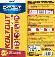 Colle Cyanolit Koltout blanc express tube 125 ml