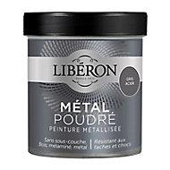 Peinture métallisée bois intérieur Liberon Métal poudré gris acier mat 0,5L