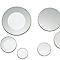 Assortissement de 6 miroirs adhésifs ronds argent