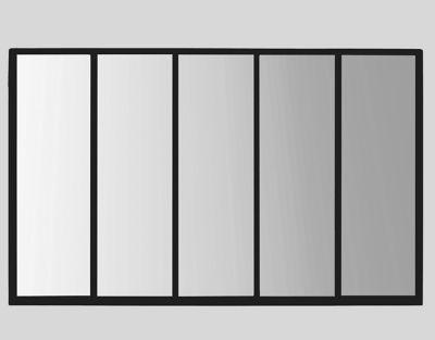 Miroir 5 Bandes Métal Noir 90 X 140 Cm Castorama