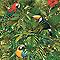 Papier peint expansé sur papier LOVE YOUR WALLS Tropic vert perroquet