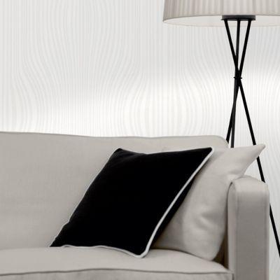 Papier Peint Expanse Sur Papier Love Your Walls Paillette Blanc