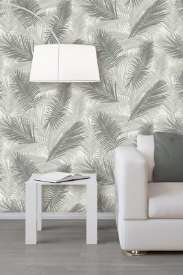 Papier Peint Intissé Tropical Gris Castorama