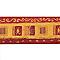 Frise Lutece Maroc rouge
