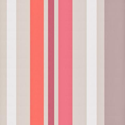 Papier peint LUTECE rayures taupe rose