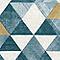 Papier peint vinyle sur intissé Triangles bleu et or
