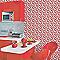Papier peint vinyle LUTECE cerise rouge