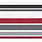 Frise adhésive LUTECE rayures rouge