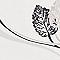 Papier peint expansé LUTECE Feuillage noir/taupe