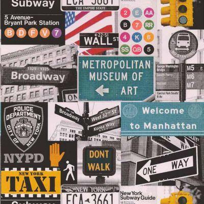 Papier peint papier sur papier LUTECE Taxi multicolore