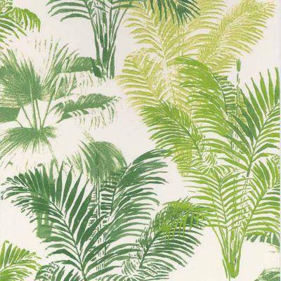 Papier Peint Vinyle Sur Intisse Lutece Palmier Vert Castorama