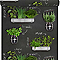 Papier peint vinyle sur papier Plantes Aromatiques noir/vert