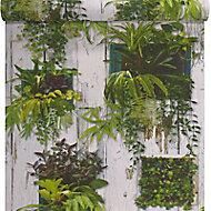Papier peint Lutèce cadre végétal