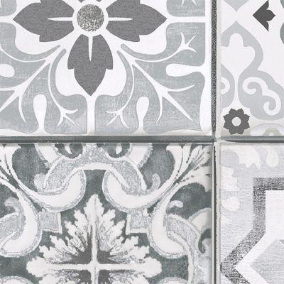 Papier peint vinyle sur intissé LUTECE Carreaux de ciment gris