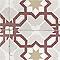 Papier peint vinyle sur intissé LUTECE carreaux de ciment rouge