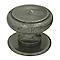Tirant bouton de porte Marcia métal gris