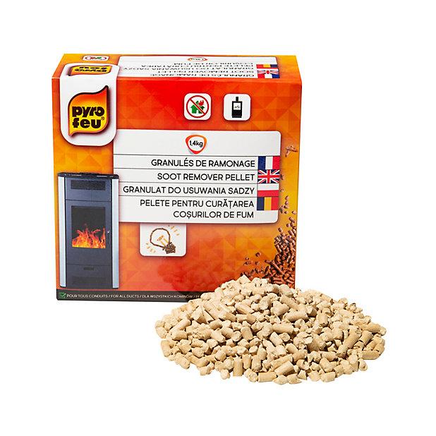 Granules De Ramonage Pour Poele A Pellet Pyrofeu 1 4 Kg Castorama