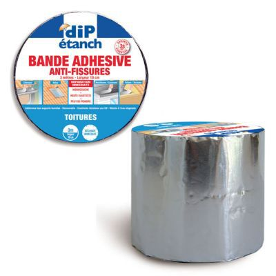 Bande adh sive d 39 tanch it anti fissures dip gris l 3 m - Bande adhesive murale ...