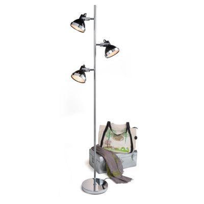 Lampadaire Seynave Derby noir H.172 cm