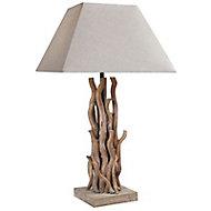Lampe à poser Seynave Keywest bois